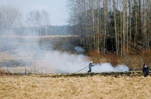 Brandplatsen ligger cirka en kilometer från Kroksgård i trakterna av Därsätt.Foto: Henrik Flygare