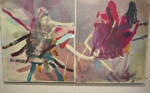 Diptyk. En målning av Yvonne Jeppsson.