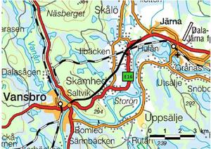 Det svarta strecket visar sträckningen av den nya vägen.