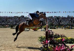 Peder Fredricson tog OS-silver på hästen All In.