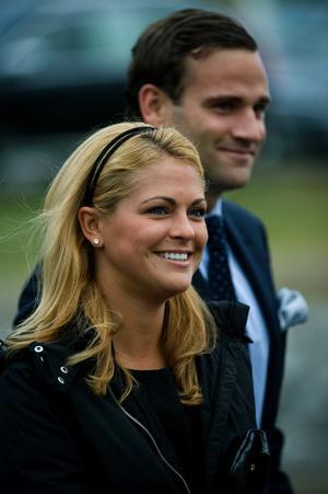 Prinsessan Madeleine tillsammans med Jonas Bergström på sin 27-årsdag.