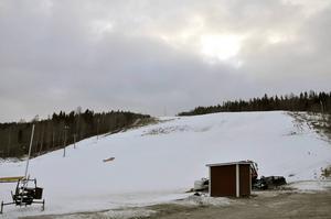 Så här såg det ut i Skönviksbacken den 5 januari i år.