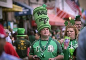Så här kan det se ut i en St. Patrick's day-parad. Arkivbild.