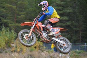 Isak Gifting, SMK Dala Falun, ligger trea i totalen i MX2-klassen. Bild: Kurt Eliasson