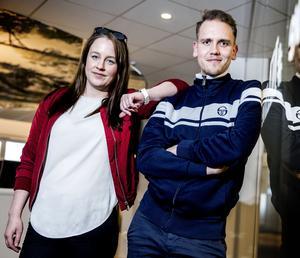 Eric Fiedler tillsammans med NA-sportens Elena Lövholm.