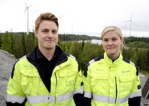 Martin Wiklund från Järvsö och Erika Dahlin från Hammerdal arbetar på Mörttjärnberget.