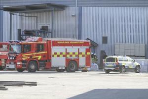 Det brann med öppen låga när räddningspersonalen kom till Iggesund.