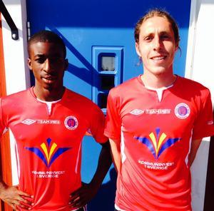 Tyrelle McLeod-Bentley och Adam Brundle.
