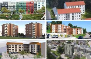 Det byggs för fullt i olika delar av Sundsvall. Innan allt är klart kan det handla om 2000 nya bostäder.