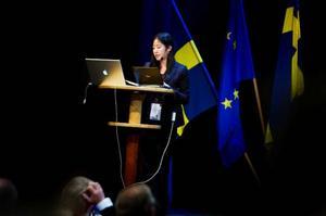 Soo-Jin Kim från OECD var en av de som höll föredrag vid EU-konferens på Folkets Hus i Östersund. Med närmare 250 åhörare från 20 EU-länder, pratade hon om vad regioner kan göra för att skapa tillväxt.