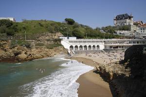 Stranden Port Vieux i Biarritz.   Foto: Annika Goldhammer