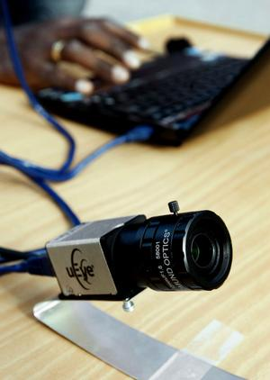 Testkamerorna är på fem megapixels upplösning, men när man köper in ny utrustning kan de hamna på tio till tolv megapixel.