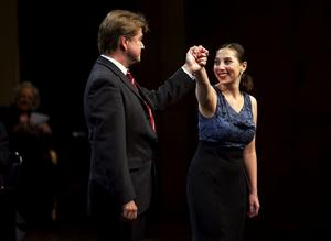 Maria Fontosh gav prov på en enastående musikformgivningsförmåga i det Mozartstycka hon sjöng med Matti Hirvonen vid pianot.