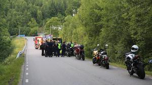 Mc-Olyckan inträffade på Ladviksvägen norr om Södertälje.