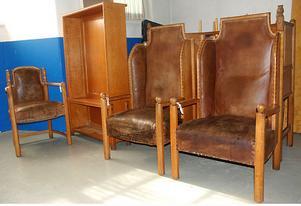 Föreningen Hantverk och design i Hedemora har samlat på sig en hel del av Wahlmans möbler genom åren.