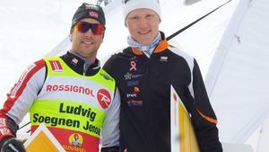Norrmannen Ludvig Sögner Jensen (vänster) vann supersprinten efter finalseger mot Oskar Svensson (höger).