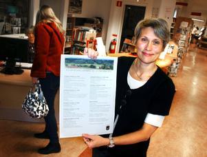 Kulturvecka i Lekeberg 22-31 oktober. Karin Adolfsson, kultur- och fritidssekreterare visar programmet.