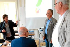 Historia uppmärksammades. Bland annat fick Håkan Blomberg, tidigare ordförande i Bergslaget, och Gunnar Linzie, tidigare verksamhetschef i Bergslaget, uppvaktning av nuvarande ordförande Inga-Britt Kronnäs.