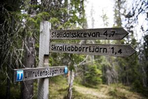 Nationalparken genomkorsas av vandringsleder. Tydliga skyltar ser till att man inte hamnar fel.