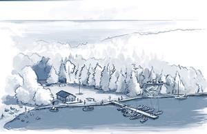 Åkeröviken ska bli ett sommarparadis för sjöfolk och badsugna.
