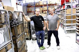 Joel Svensson och Jeff Jansson har byggt upp företaget tillsammans.