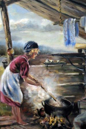 Sista året han levde, 1969, målade Fries denna målning.