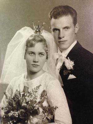 Bröllopsfotot från 19 oktober 1963.