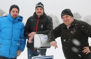 Niklas Ohlson, Mattias Wiberg och Sebastian Hedin kommer att jobba stenhårt för att Sveg ska bli centrum för ett återkommande event med skoter i fokus