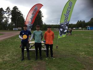Åke Wallbäcks, Max Regitnig och Robin Villman i openklassen