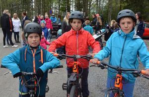 Elliot Jansson, Andrei Mihart Nordin och Alexandru Mihart Nordin bor i Nyänget och går på Sundskolan. Vägen till skolan tycker de känns läskig då många kör för fort och det saknas cykelväg.