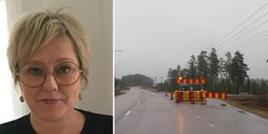 Josefina Karlberg tycker att det fungerar bra med avkörningsfilen mot Eskövägen.  Foto: Privat/Jenny Kjellin