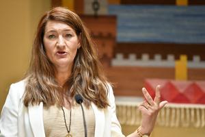 Susanne Gideonsson valdes till LO:s ordförande i juni 2020. Hon är även förbundsordförande för Handelsanställdas förbund sedan 2014. Här skriver hon om avtalsrörelsen.Foto: Anders Wiklund/TT