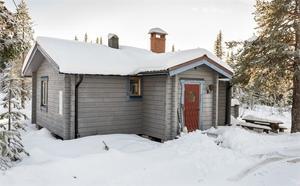 Fritidshus med högt läge på Sälfjällstangen. Foto: Andreas Timfält/Husfoto