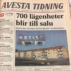 Minst sagt oväntat förslag i en kommun som då styrts av S sedan rösträttens införande. Avesta Tidning 1 februari 1997.