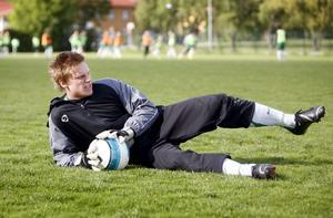VSK:s målvaktstränare Erik Biselius 2007, fick dåligt med speltid och ville lånas ut. Foto: Arkiv