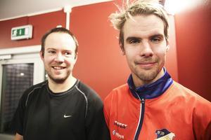 Jonas Edling och Mattias Hammarström är några av Edsbyns vassa skyttar. Ett högst allvarligt hot på hörnor.
