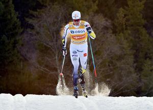 Calles favoritdistans är 15 km klassisk. Här på en av hans favoritbanor i Lillehammer.