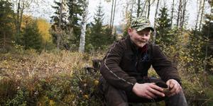 Oskar Åsåker, hundförare och vice jaktledare.