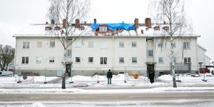 Huset är byggt 1954 och ett av Leksandsbostäders äldsta.