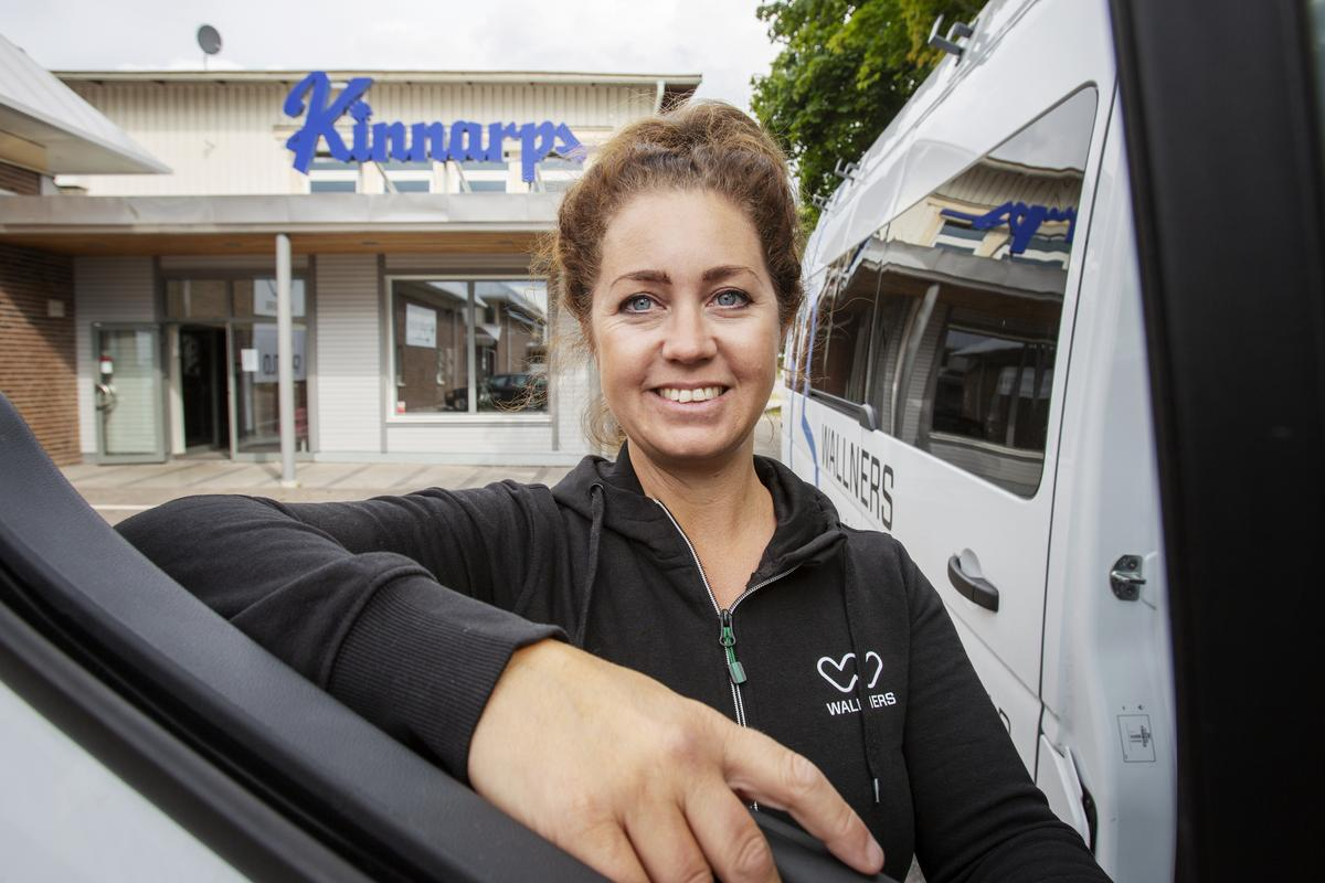 Therese Wessling är pinonjär som säljare för både Kinnarps och Wallners som har flyttat i hop på Södra Skeppsbron i Gävle.