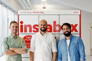 Johan Lundin, Alexis Priftis och Staffan Gabrielsson, grundare av Instabox. Pressbild.