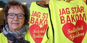 Vi måste sätta ned foten igen och markera att vi menar allvar, säger Barbro Mikaelsson från BB-ockupationen med anledning av den stundande manifestationen för Sollefteå sjukhus. Foto: Jonny Dahlgren/Arkiv