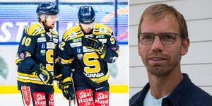 SSK fortsätter ha det kämpigt i hockeyallsvenskan. Men Mikael Samuelsson är inte förvånad, då han menar att kravbilden är för låg kring A-laget.  Foto: Bildbyrån/LT