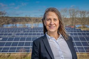 Svensk solenergis vd Anna Werner. Foto: Jann Lipka