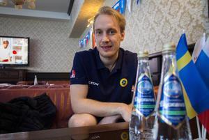 Erik Säfström på plats i Uljanovsk under VM 2016.