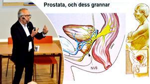 Anders Widmark, professor vid Umeå universitet, höll ett föredrag när han besökte patientföreningen Träpatronernas årsmöte.