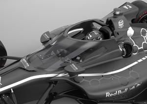 Indycar och Red Bull Advanced Technologies har tagit fram konceptbilderna på det nya huvudskyddet. Foto: Chris Beatty/Indycar