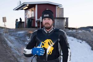 Nyförvärvet Pierre Hallén, poängbäst i den första serierundan av isracingserien.