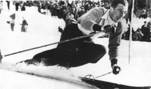 Stig Sollander under VM i Åre 1954. Foto: ÖP:s arkiv
