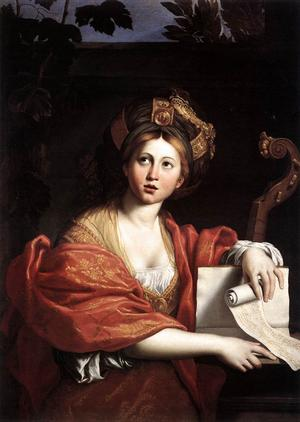 Sibyllan i Kyme. Målning av Domenichino från 1617.